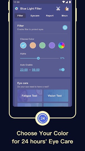 Bluelight Filter - get good slep, night mode