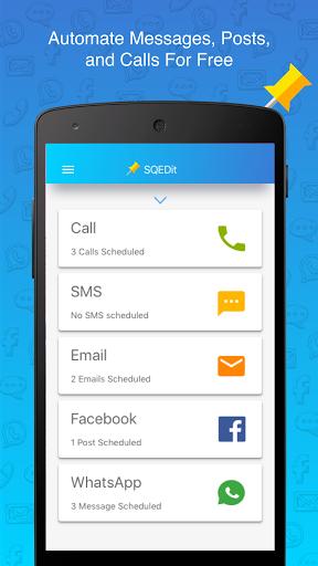 Free download SQEDit Scheduling App: Schedule Whatsapp SMS