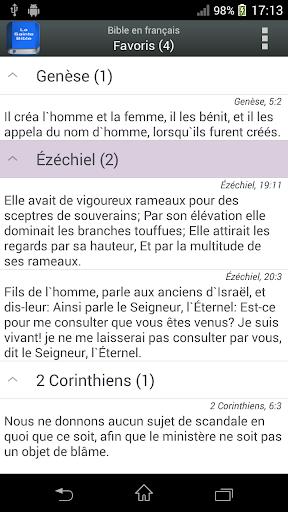 Bible in English Louis Segond