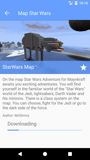 Map Star Wars for Minecraft PE