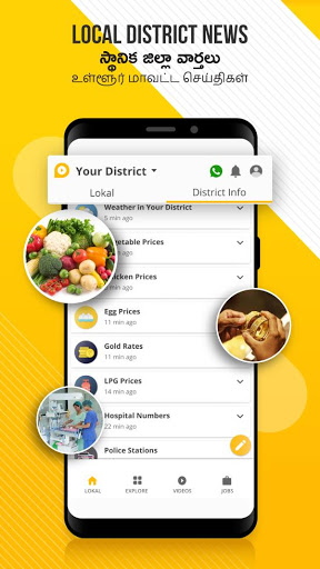 Lokal App - Karimnagar, Krishna, Warangal News