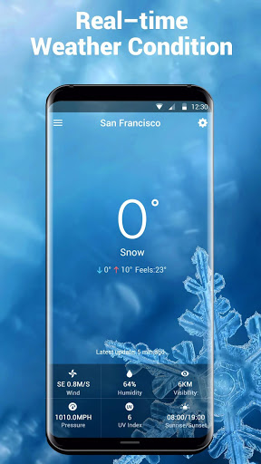 Galaxy live weather clock
