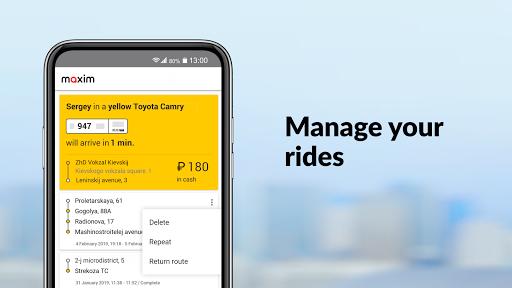 Maxim: order a taxi
