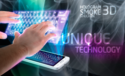 Hologram 3D Simulator. Smoke
