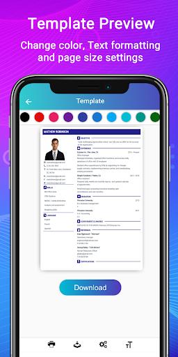 Resume Builder App Free CV maker CV templates 2019