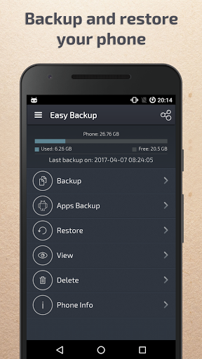 Easy Backup & Restore for Wiko Sunny 2 Plus - free download APK file