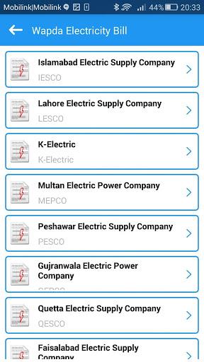 Wapda Electricity Bill Checker for Archos Diamond 2 Note