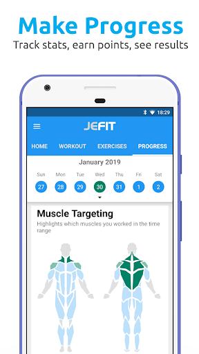 JEFIT: Workout Tracker Gym Log