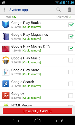 System app uninstaller for LeEco Le 2 - free download APK file for Le 2
