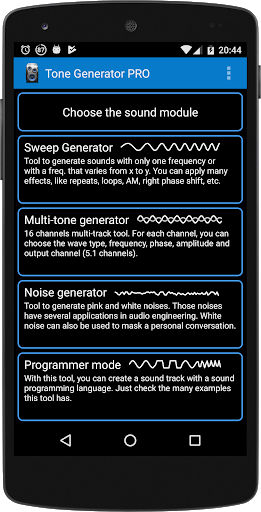 Free download Tone Generator PRO APK for Android