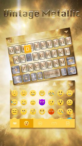 Vintage Metal Emoji iKeyboard