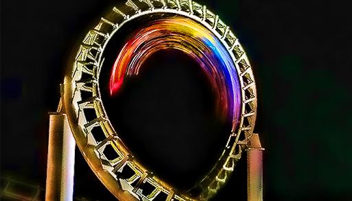 Roller Coaster Night Rider