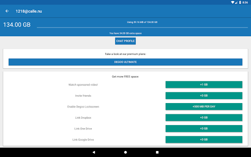 Free download 100 GB Free Cloud Storage Drive from Degoo APK for Android
