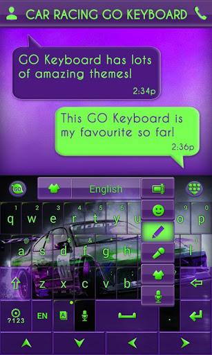 Car Racing GO Keyboard Theme
