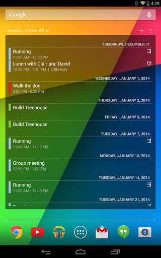 Calendar Widget for Oppo A57 - free download APK file for A57
