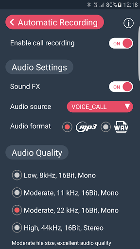Automatic Call Recorder for oppo A83 - free download APK