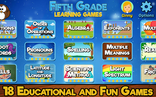 Fifth Grade Learning Games