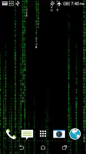 Description of Matrix Live Wallpaper (from google play)