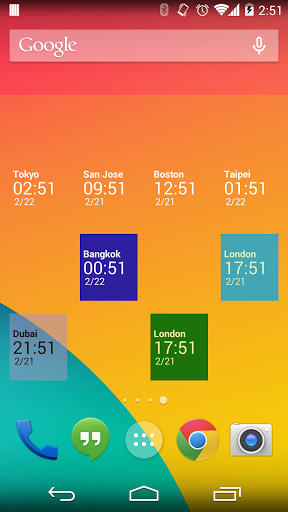 Simple World Clock Widget for LG Q6 - free download APK file