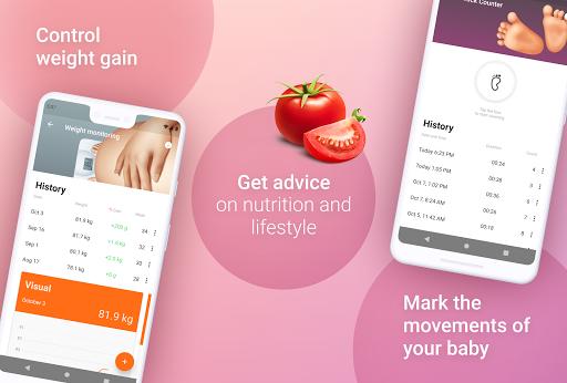 Week by Week Pregnancy App. Contraction timer