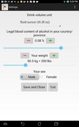 Alcohol Calculator & Tracker