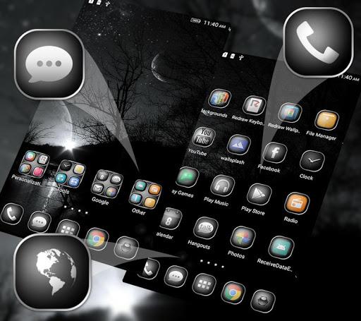 Black&White Launcher Theme for Tecno i7 - free download APK