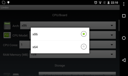 Free download Limbo PC Emulator QEMU x86 APK for Android