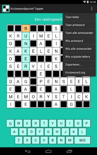 Crossword puzzle Topper