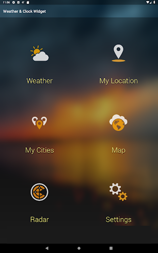 Weather & Clock Widget for Android (Air Forecast) for LG G6 - free
