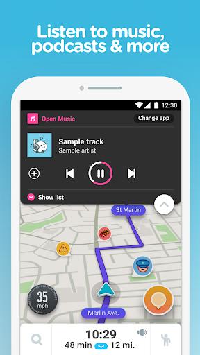 Waze - GPS, Maps & Traffic for BlackBerry Aurora - free