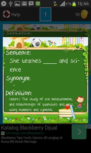 Vocabulary Games First Grade