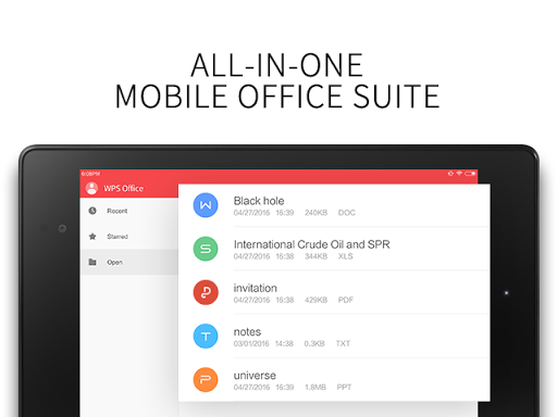 WPS Office + PDF for Oppo A37 - free download APK file for A37
