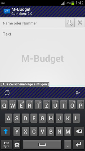 WebSMS: M-Budget Connector