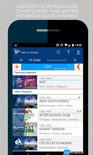 Eutelsat Free-to-air TV guide for Samsung Galaxy S5 (octa-core