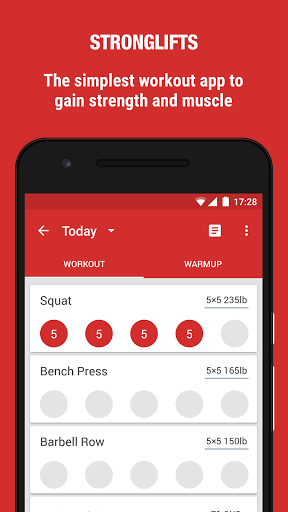 StrongLifts 5x5 Workout for Huawei P8 Lite (2017) - free