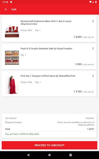 Screenshots of HomeShop18 Mobile