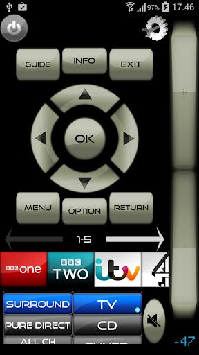 Remote for Panasonic TV+BD+AVR for Panasonic Eluga Ray