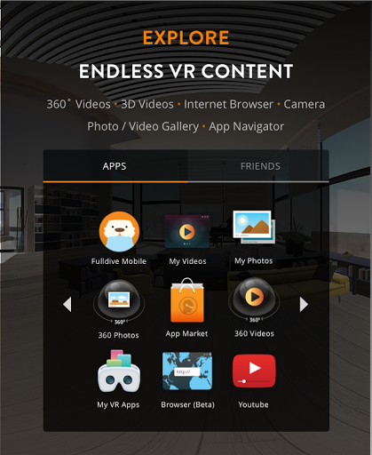 Fulldive VR - Virtual Reality for Samsung Galaxy J3 (2017) - free