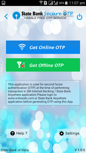 Free download State Bank Secure OTP APK for Android