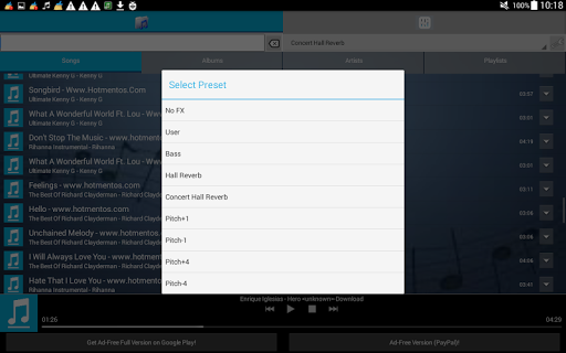 Free download FX Music Audio Player Karaoke APK for Android