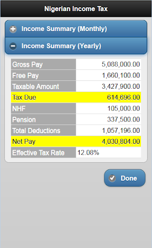 free download nigeria tax net pay calculator apk for android